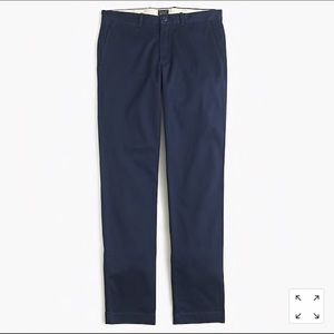 J crew mens 770 straight fir pant in stretch chino
